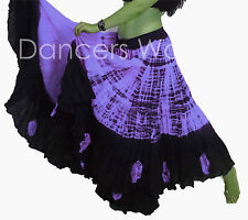 Dancers World 2pc 25 Yard Cotton Skirt for Tribal Gypsy Belly Dancing ATS & TOP