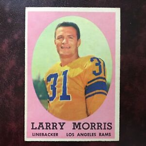1958 Topps Set LARRY MORRIS #50 LOS ANGELES RAMS - EX-MINT *HIGH GRADE*
