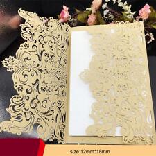 50PCS golden Bulk Wedding Invitations Birthday Party Invitation Cards Laser Cut