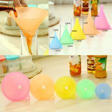 5PCS Funnel colorful plastic small medium large variety liquid oil Embudo pequeñ