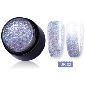UR SUGAR 7ml UV Gel Polish Platinum Shining Pink Soak Off Nail Art Gel Varnish
