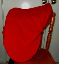 Horse Saddle cover for Western / Stock / Fender Free Embroidery Australian Red