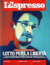 L'Espresso.Edward Snowden,Ari Folman,Alain Turing,Philip Rylands,Ettore Troilo,j