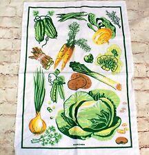 """HALBLEINEN German Linen Kitchen Towel Vegetables 19 """" x 28.5"""""""
