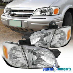 For 1997-2005 97-05 Chevy Venture Replacement Head Lights Signal Corner Lamps