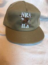 Nra Ila Trucker Hat Strap Back Snapback Eagle Rifle Usa Khaki