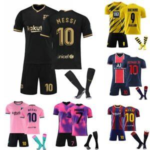 AU 20/21 Kids Boys Adults Football Kits Soccer Training Jersey Suits Sportswear
