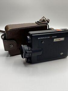 Agfa Microflex 200 Sensor Filmkamera Super 8 mit Etienne Aigner Ledertasche #39