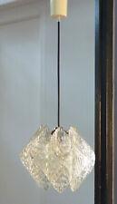SUSPENSION VINTAGE LAMPE GLOBE Perspex cristal DESIGN 60 70 DLG ERCO
