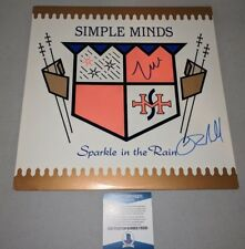 """SIMPLE MINDS signed autographed """"SPARKLE IN THE RAIN"""" LP RECORD BECKETT COA BAS"""