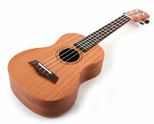 Bray 23 Inch Premium Natural Wood 4 String Concert Ukulele