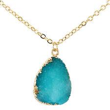 Natural Druzy Quartz Clusters Geode  Stone Pendant Necklace Sale