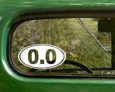 2 0.0 DECALs Lazy Funny Oval Sticker Vinyl Bumper Truck Car Window Laptop