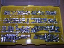 220tlg mini Senkkopf M4 M5 M6 M8 M10 Nietmuttern Alu + Stahl im Sortimentskoffer