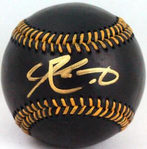 Kyler Murray Autographed Rawlings BLACK OML Baseball- Beckett W *Gold