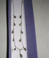 """Green Amethyst (Brio) Necklace set in Platinum Overlay 925 Sterling Silver (18"""")"""