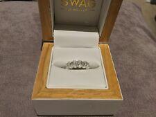 4.0 Carat Princess Cut Diamond Engagement/Eternity Ring In Platinum Size O
