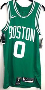 Nike Boston Celtics Jayson Tatum Icon Authentic Jersey Green White Men's 40