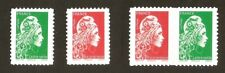 2019 Autoadhésifs Paire 1653+ 2 timbres 1653 + 1654 MARIANNE L'ENGAGEE  NEUFS**