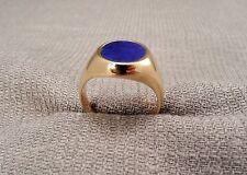 14K Yellow Gold Lapis Lazuli Ring - Size 8