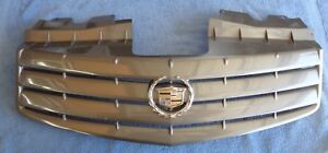 NICE OEM Factory 03-07 Cadillac CTS PAINTED Bumper Grille Header Chrome Emblem