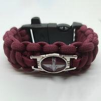 Parachute (Paras) Regiment Badged Paracord Survival Bracelet Tactical Edge