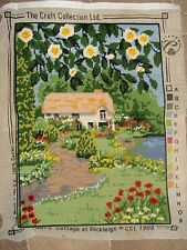 """THE CRAFT COLLECTION COTTAGE AT BICKLEIGH COMPLETED NEEDLEPOINT 16"""" X 12"""""""