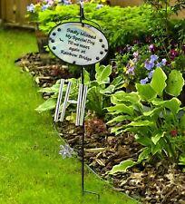 Sadly Missed Dog Memorial Rainbow Bridge Wind Chime Grave Glass Garden Ornament