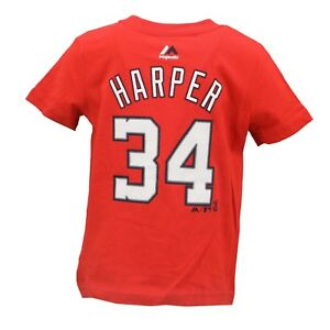 Washington Nationals MLB Majestic Baby Infant Size Bryce Harper T-Shirt New Tags