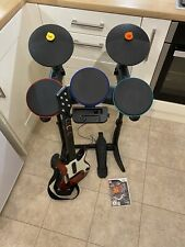 Band Hero Wii Complete Set Drums Guitar, Sticks And Guitar Hero Game