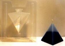 Z2528 Gießform Reliefgießen  Kerzenform 2teilig Kerze Pyramide Höhe 10,5 cm