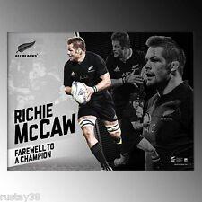 RICHIE MCCAW NEW ZEALAND ALL BLACKS FAREWELL TO A CHAMPION RETIREMENT PRINT