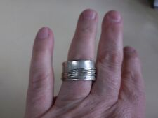 Sterling Silver marked 925 Woman's Size 11 Wide Band Ring