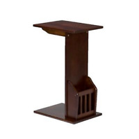 NEW Espresso Accent Side End Snack C Table Magazine Holder Rack Drink Couch Sofa
