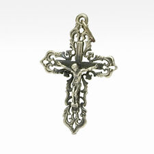 Russian Orthodox Cross - Delicate/Small - Pewter Crucifix
