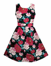 Cotton Round Neck Floral Dresses for Women