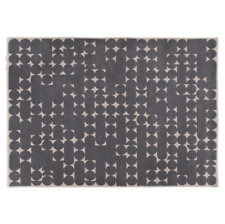 Habitat Penrose Large Carved Wool Rug 140cm x 200cm Rectangular Carpets Grey