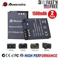 2pcs 1500mAh EN-EL12 Battery for Nikon Coolpix A1000 B600 AW100 AW110 P300 S630