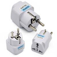 Portable UK US AU to EU European Power Socket Plug Adapter Travel Converter
