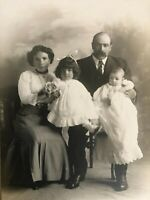 Antique Family Portrait Cabinet Photo (Circa 1890's-1900) Steinbach Studio
