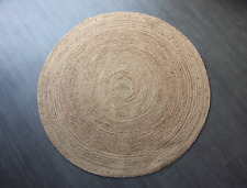 Large Circular/ Round Handwoven/ Braided Natural Jute Indoor/ Outdoor Rug/ Mat