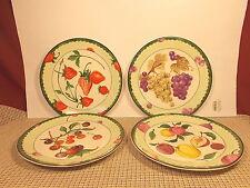 "American Atelier Dinnerware Set of 4 Salad/Dessert Plates Fruit Designs 8 3/8"""