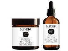 XL-Set: Oliveda Anti Aging Gesichtsserum (100ml) + 24h Gesichtscreme (100ml)