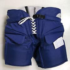 New Reebok 9k hockey goalie pants junior large blue jr ice rbk royal