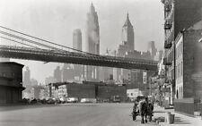 STAMPA SU TELA CANVAS NEW YORK FOTO STORICA BIANCO E NERO CITTA' 60X100