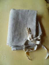 10 housses neuves matelas de lit picot pliants militaire Tissu 100% LIN Vintage