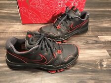 2010 Nike Trainer 1.2 Low Manny Pacquiao Pacman Black Stealth Boxing Mens Sz 8.5