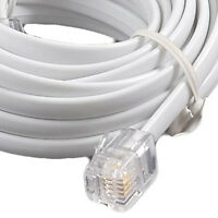 5m RJ11 - RJ11 4 Pin Fully Wired High Speed Broadband Internet ADSL Cable WHITE