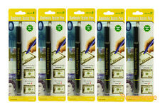 (5 Pack) Counterfeit Money Detector Pen Marker Fake Dollar Bill Currency Check