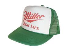 Miller High Life beer hat Trucker Hat Mesh Hat new adjustable snapback green